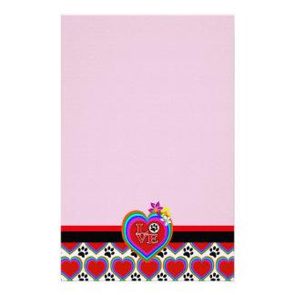 Papelaria Coração do arco-íris, hibiscus, cães do amor