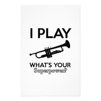 Papelaria design da trombeta
