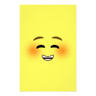 Papelaria Emoji de sorriso branco