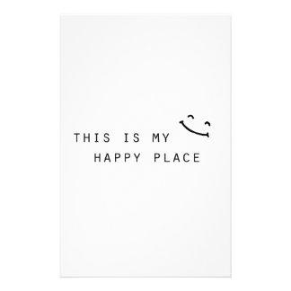 Papelaria este é meu design moderno simples do lugar feliz