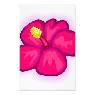 Papelaria Flor cor-de-rosa de Havaí