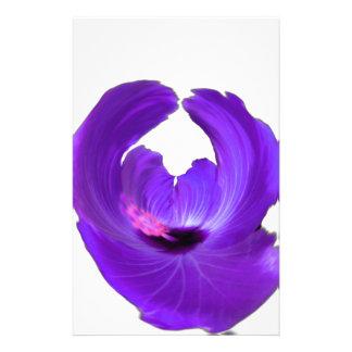 Papelaria Flor roxa 201711h do abstrato do hibiscus