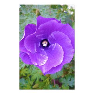 Papelaria Flor roxa do hibiscus,