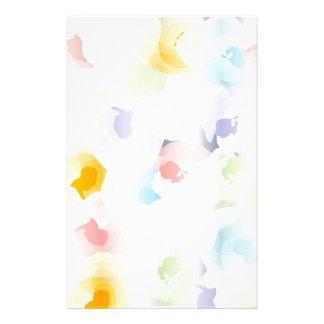 Papelaria Floral Pastel abstrato