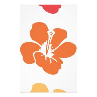 Papelaria Flores coloridas do hibiscus