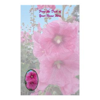 Papelaria Flores cor-de-rosa do hibiscus