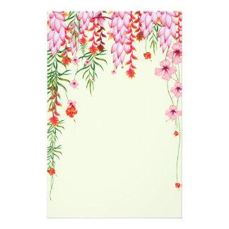 Papelaria Flores tropicais de suspensão do hibiscus da selva