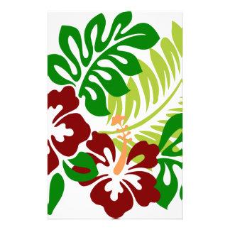Papelaria Flores tropicais do hibiscus