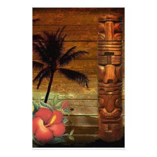Papelaria Hawaiian floral tropical do hibiscus do totem da