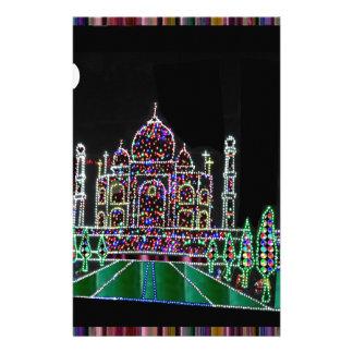 Papelaria Herança da arquitetura de TAJ Mahal Moghul que