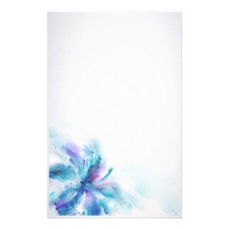 Papelaria Hibiscus azul abstrato