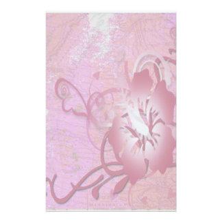 Papelaria Hibiscus cor-de-rosa