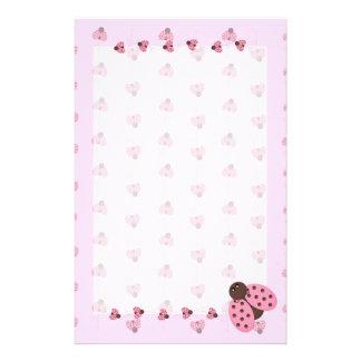 Papelaria Joaninhas cor-de-rosa estacionários