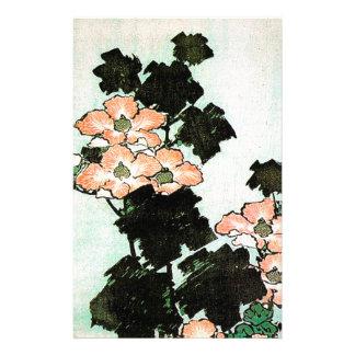 Papelaria Katsushika Hokusai (葛飾北斎) - hibiscus e pardal