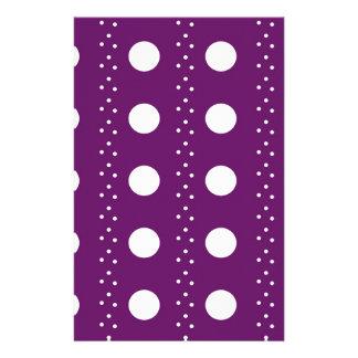 Papelaria Listras de Polkadot da uva
