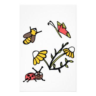 Papelaria Margarida, abelha, borboleta e joaninha