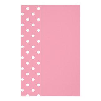 Papelaria Modelo do rosa cor-de-rosa