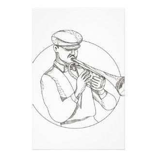 Papelaria Músico de jazz que joga a arte do Doodle da