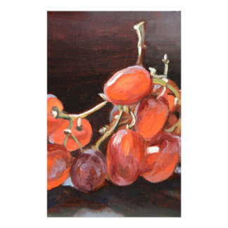 Papelaria No. 2 das uvas vermelhas