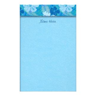 Papelaria O hibiscus floresce o Batik azul
