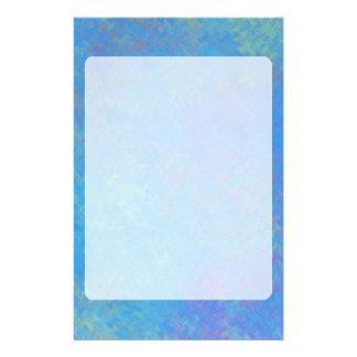 Papelaria Olhar bonito do papel marmoreado do azul