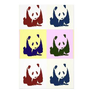 Papelaria Pandas do bebê do pop art