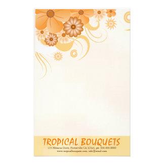 Papelaria Papel de carta floral do florista do hibiscus do