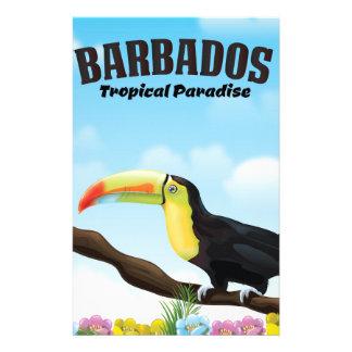 Papelaria Poster de viagens tropical do paraíso de Barbados
