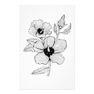 Papelaria Rosa do hibiscus da flor de Sharon