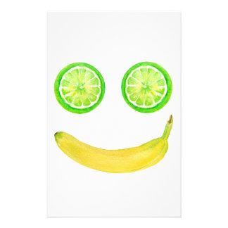 Papelaria Smiley face da fruta da aguarela