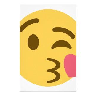 Papelaria Smiley Kiss Emoji