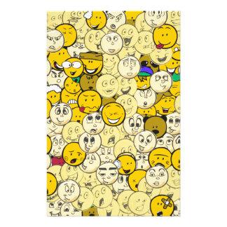 Papelaria Teste padrão de Emoji