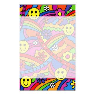 Papelaria Teste padrão do arco-íris do Hippie