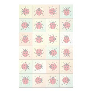 Papelaria Teste padrão dos joaninhas