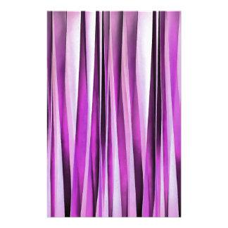 Papelaria Teste padrão Stripy de Lavendar, de íris e de uva