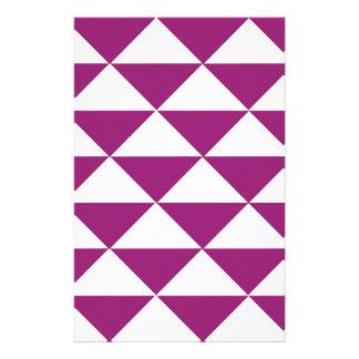 Papelaria Triângulos roxos e brancos da uva