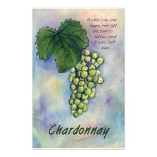 Papelaria Uvas para vinho de Chardonnay & artigos de