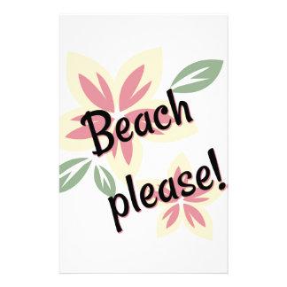 Papelaria Verão floral - praia por favor