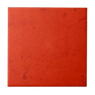 Papiro carmesim azulejo quadrado pequeno