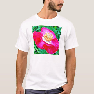 Papoila cor-de-rosa t-shirt