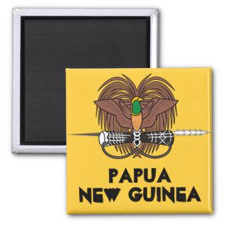 Papuá-Nova Guiné * ímã do refrigerador Ímã Quadrado