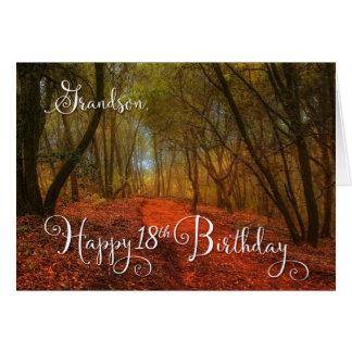 para aniversário do neto o 18o - trajeto da cartão comemorativo