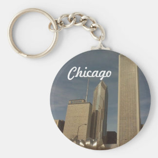 Para baixo cidade Chicago, chaveiro
