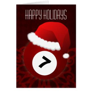 para cartões de Natal do jogador de bilhar