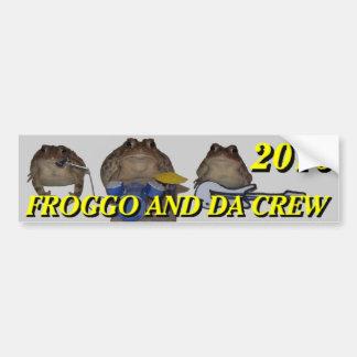 pára-choque 2016 do froggo adesivo de para-choque