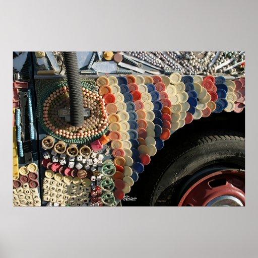 Pára-choque, carro da arte, Goldfield, Nevada Impressão
