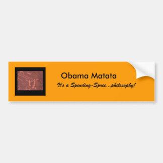 pára-choque da despesa-série de Obama Matata do te Adesivo Para Carro