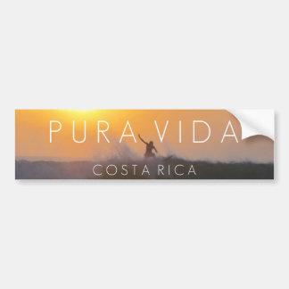 Pára-choque de Pura Vida Costa Rica do surfista do Adesivo Para Carro