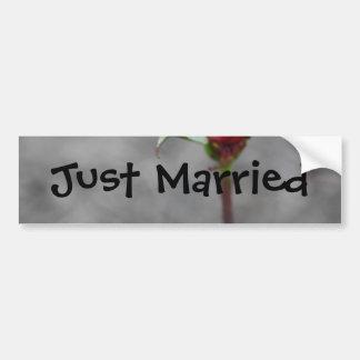 Pára-choque Sticke do Rosebud do recem casados do  Adesivo Para Carro