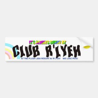 Pára-choque Sticke dos recursos de R'lyeh do clube Adesivo De Para-choque